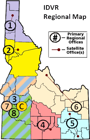 Idaho Regional Map