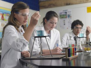 Group of students in science lab