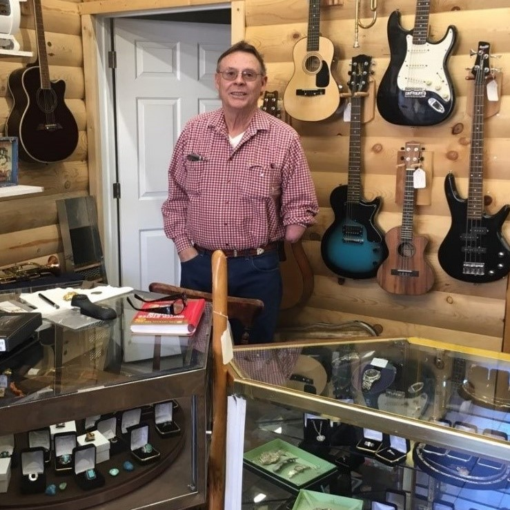Randy in his pawn shop